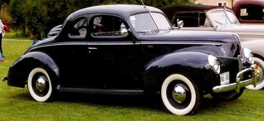 The moonshine distillers favorite rum runner car in the 1940s thru the mid '50's was a 1940 Ford.. The flathead V-8 could be souped up, or replaced with a newer, more powerful engine ... maybe from a Caddy ambulance.