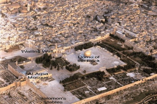 Bird's-eye view of the Temple Mount