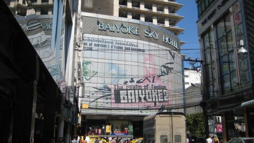 Front Entrance of Baiyoke Sky Hotel