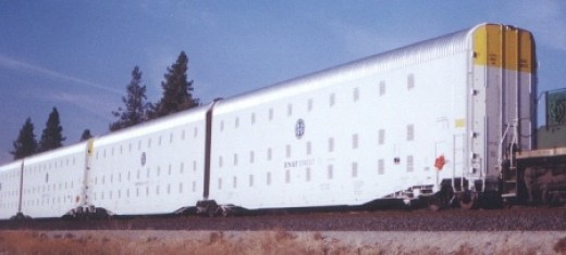 FEMA ordered 107,200 AutoMax prison cars from Gunderson Steel modified from original FEMA design to carry automobiles.