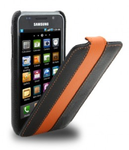 Чехол Melkco для Samsung Galaxy S i9003 Leather Case Limited Edition Jacka Type (Black/Orange LC) .