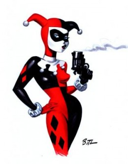 "Harley Quinn as she first appeared in ""Batman: The Animated Series"""