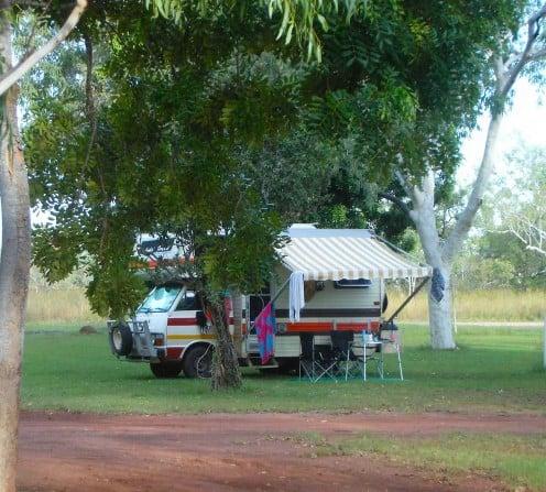 Our camp at Mataranka