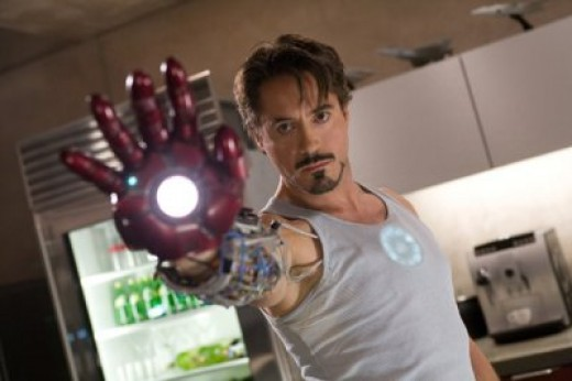 Robert Downey Jr. as Tony Starks in Iron Man movie