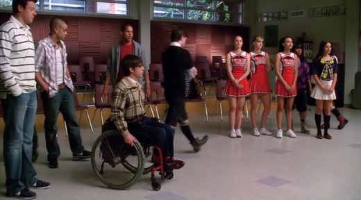 When Glee was divided into boys vs girls, Kurt tried to join the girls' team.