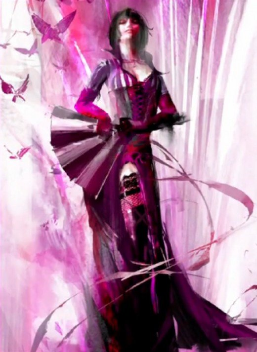 This isn't Queen Jennah, although it is possible Mesmer concept art for guild Wars 2