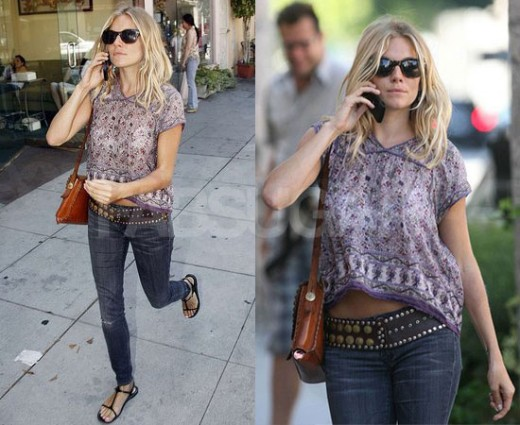 Dress in fashion - Sienna Miller
