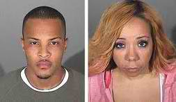 T.I. and Tiny's mugshots.