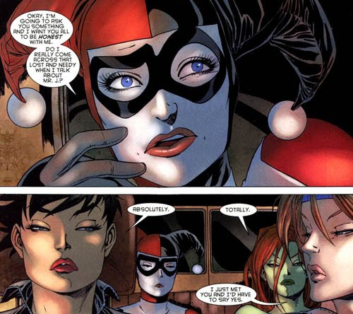 "A moment of acknowledgement of her unhealthy relationship with Joker in ""Gotham City Sirens"""