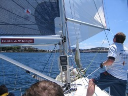 Crossing the Finish Line in Hobart