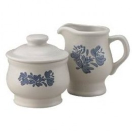 Pfaltzgraff Yorktowne Sugar Bowl and Creamer