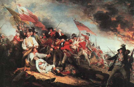 One of the most important Rvolutionary War masterpieces, John Trumbull finished this work in the studio of Benjamin West in London and finished in March, 1786.