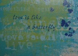 Butterfly message on a poster