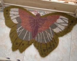 Butterfly welcoming mat