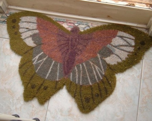 Butterfly welcoming mat