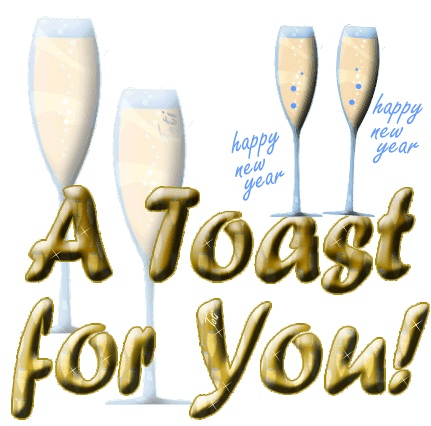 A celebration toast for a New Year