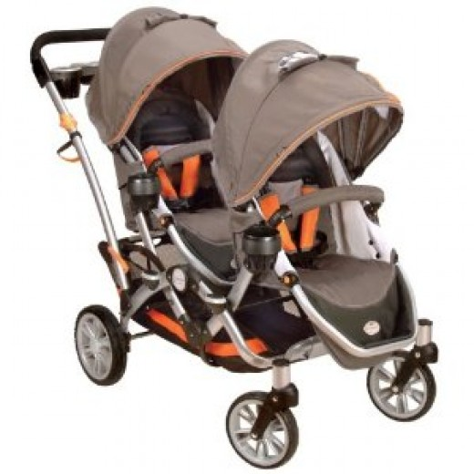 Double Prams: Kolcraft Contours OptionsTandem II Stroller