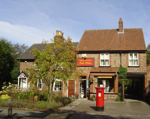 Bishopthorpe Old Post Office. The Post Office has now moved into the Newsagents on Sim Balk Lane.
