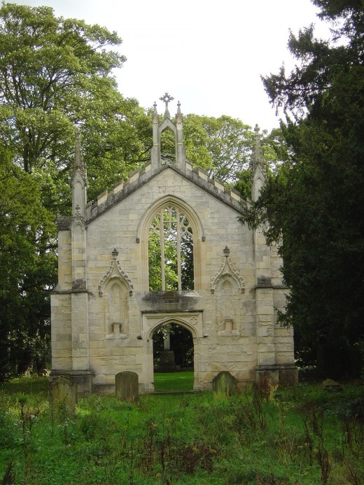 Bishop thorpe - The ruins of the second Church of St Andrew