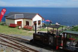 David Lloyd-Jones 2010 - Sea Lion Rocks station on the 2ft gauge Groudle Glen Railway on the Isle of Man