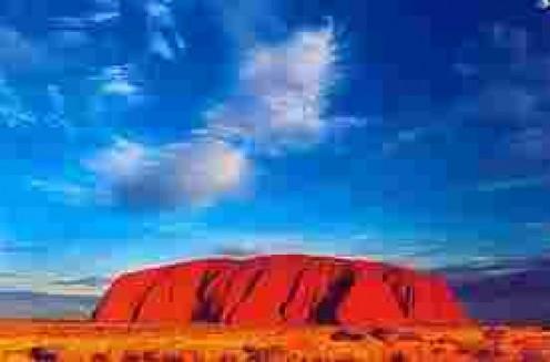 Uluru or Ayer's Rock.  In Central Australia