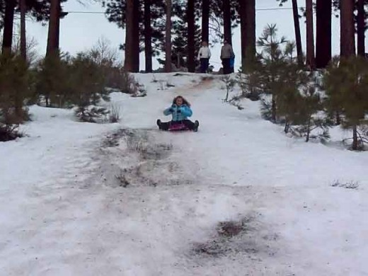 The sled hill at Kahle Park-access is off either Hwy 50 or Kingsbury grade-use Kahle St