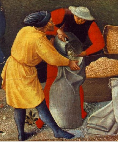 file from Wikimedia Commons. Detail of workmen from Fr Angelico, Source: http://www.wga.hu - image  in public domain - copyright has expired. http://en.wikipedia.org/wiki/File:Fra_Angelico_Ship_Detail.jpg