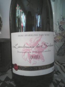 Wine Review: Lambrusco di Sorbara, Cantina di Sorbara, Amabile