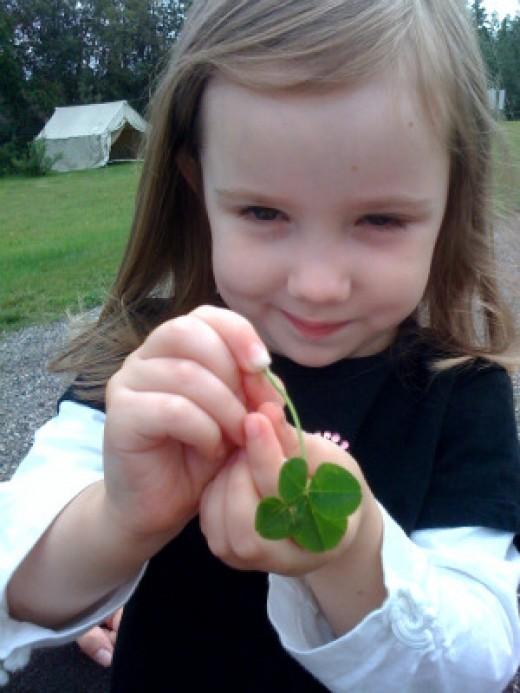 I found a four leaf clover!