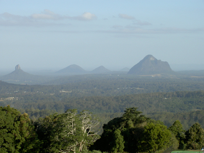 A scenic view from up near Flaxton in Southeast Queensland, our road trip destination.