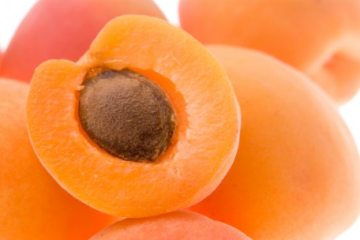 Sliced apricots