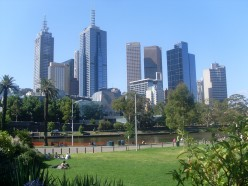 Melbourne, Australia in summer.