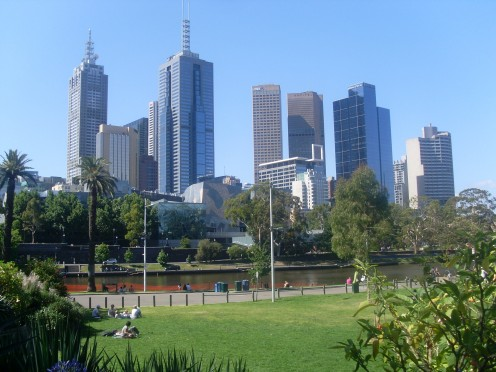 Melbourne, Australia in summer.