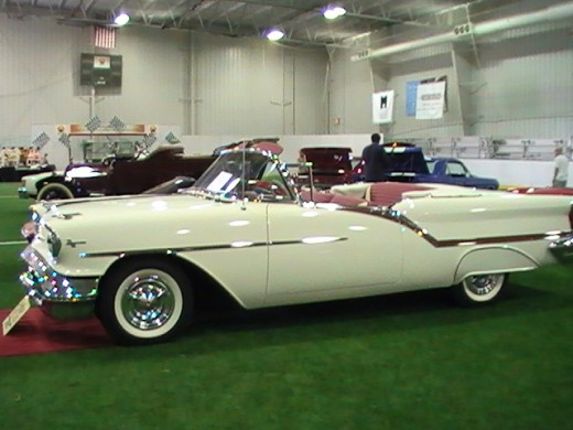 Classics and Chrome Car Show Loves Park Illinois photo of white convertible