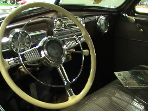Classics and Chrome Car Show Loves Park Illinois photo of steering wheel