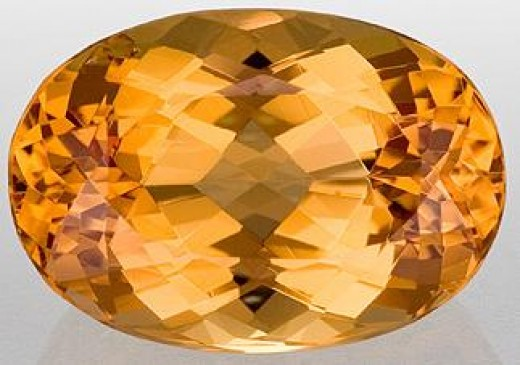 Golden Topaz Stone, Oval Cut