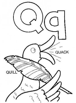 Q Coloring Page designs q starting with o Colouring Pages