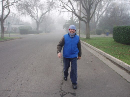Fog or no fog, I figure if I just keep putting one foot in front of the other, I will find my way home.