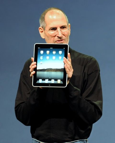 Steve Jobs presenting the 1st Ipad in January 2010. Photographer matt buchanan