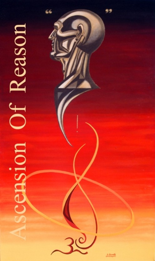 ASCENSION OF REASON product print design by Robert G. Kernodle