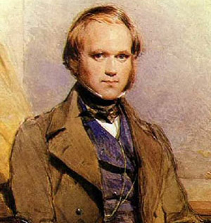 Charles Darwin, great naturalist with his theory about nature and human evolution