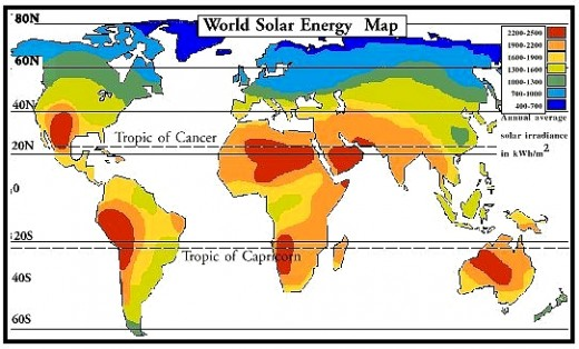 World Solar Intensity Map