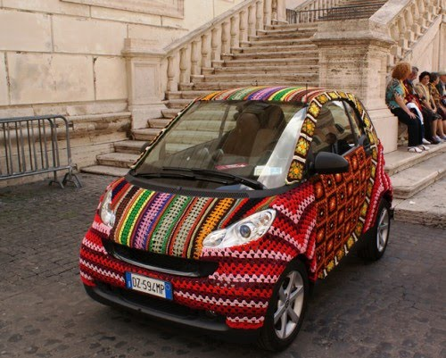 Smart Car crochet cover