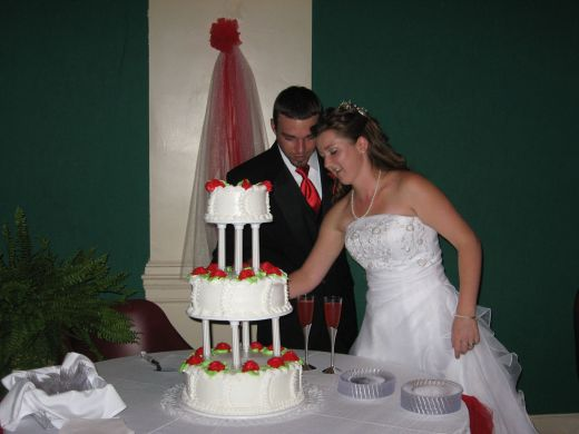 Your wedding cake can be a focal point of the reception.