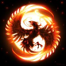 Depiction of the mythical firebird: Phoenix