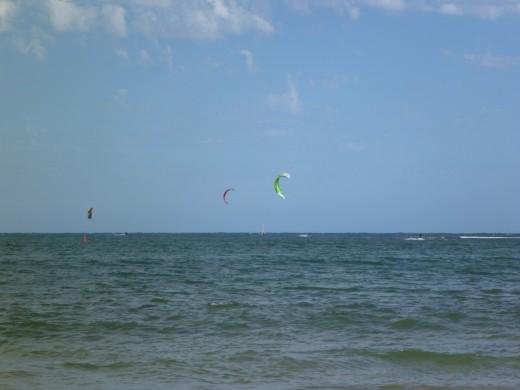 Kites flying... taken from the shore