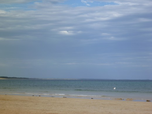 View from Torqauy's main beach over the ocean
