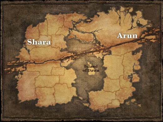 Map of Arborea