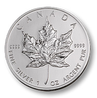 This is a one ounce Canadian Maple Leaf. It is .999 fine silver