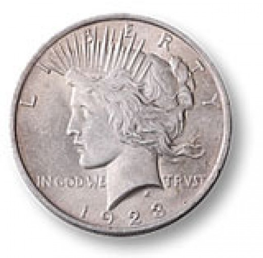This is a U.S Peace Dollar and it is 90% silver.